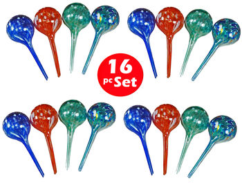 Plant Watering Globes - Automatic Watering Bulbs - 16pc Miniwatering