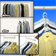 Metal Cascading Space Saving Closet Hangers  - 360 Swivel Action -  Maximize Closet Space & Organize - 5pc Set